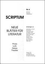 Literaturzeitschrift SCRIPTUM Nr. 04 - Cover