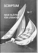 Literaturzeitschrift SCRIPTUM Nr. 07 - Cover