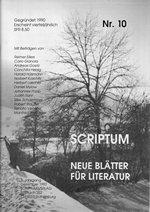 Literaturzeitschrift SCRIPTUM Nr. 10 - Cover