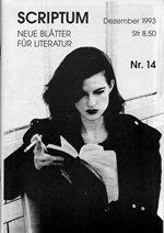 Literaturzeitschrift SCRIPTUM Nr. 14 - Cover