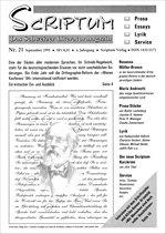 Literaturzeitschrift SCRIPTUM Nr. 21 - Cover