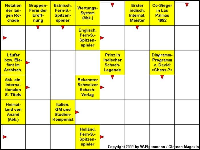 Schach-Kreuzworträtsel August 2009