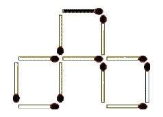 Drei Streichhölzer sollen so umgelegt werden, dass drei gleich große Quadrate entstehen (November 2009) - Lösung