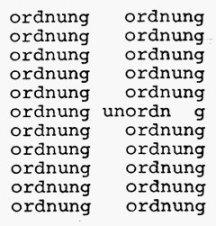 Textvisualisierung in der Moderne: Konkrete Poesie (Timm Ulrichs: «ordnung – unordnung, 1978)