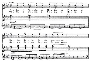 Auszug aus Mussorgskys «Abendgebet» (Teil des Liederzyklus' «Die Kinderstube»)