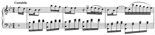 «International gepriesenes Cantabile-Idiom»: Kozeluchs Anfang des 2. Satzes der Klavier-Sonate F-Dur op. 1/1