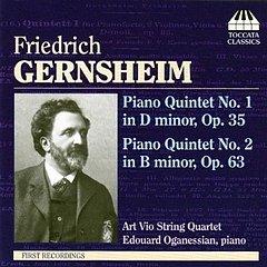 Friedrich Gernsheim - Klavier-Quintett Nr. 1 op. 35 - Klavier-Quintett Nr. 2 op. 63