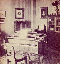 Robert Schumanns Arbeitszimmer in Leipzig