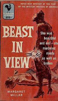 Original-Cover der amerikanischen Bantam-Ausgabe von Millars «Beast in View» (1955/56)