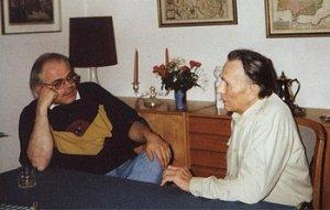 Der Autor mit Walter Janka (rechts)
