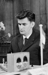 Sieger der Deutschen Meisterschaft 1961: Berlins starker Großmeister Klaus Darga (*1934)