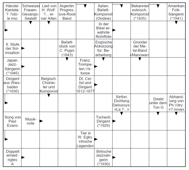 Kreuzworträtsel 50