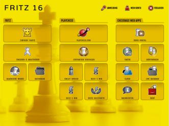 """Der neue Startbildschirm von """"Fritz 16"""": Freundlich, einladend, übersichtlich strukturiert"""