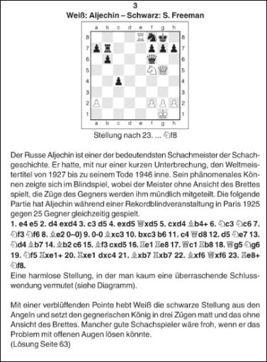 """50 attraktive Schach-Kombinationen bis zum Matt in Lossa's """"Der entscheidende Zug"""""""