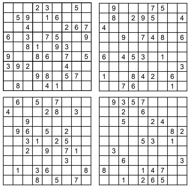 Sudoku-Rätsel Mai - Zahlen-Puzzles - Denksport - Glarean Magazin