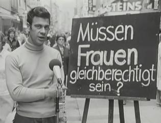 """""""Müssen Frauen gleichberechtigt sein?"""" Strassen-Statements von Männern zum Thema Frauen und Arbeitswelt in den 1950er Jahren"""