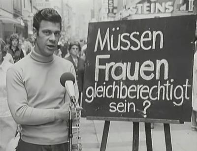 Müssen Frauen gleichberechtigt sein - Strassen-Statements in den 1950er Jahren - Glarean Magazin