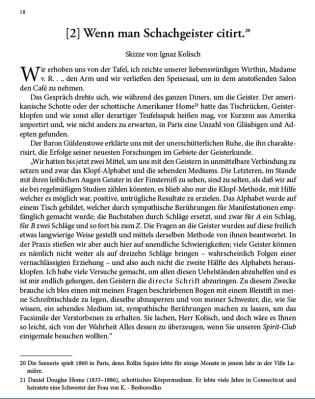 """""""Das Gespräch drehte sich um Geister"""": Leseprobe aus """"Die Feuilletons von Ignaz Kolisch"""" (Vergrösserung mit Mausklick)"""