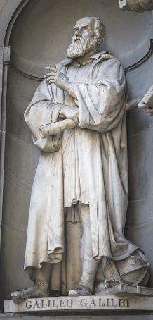 Stützte wissenschaftlich das heliozentrische Weltbild von Kopernikus: Galileo Galilei