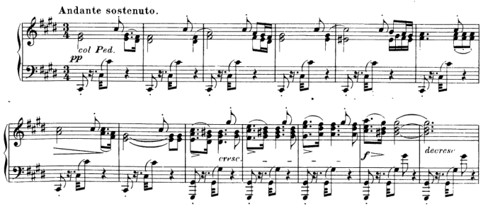 Franz Schubert - Klaviersonate D960 - Beginn Andante sostenuto - Glarean Magazin