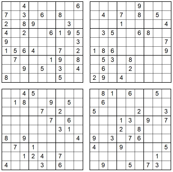 Sudoku September 2021 - Aufgaben - Glarean Magazin