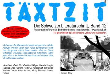 TäxtzIt (Textzeit) - Die Schweizer Literaturschrift - Cover Band 12 - Rezensionen GLAREAN MAGAZIN
