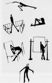 Originale Zeichnungen von Frank Kafka