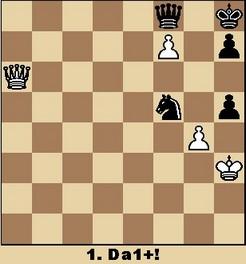 Studie von Salov (aus Walter Eigenmann: Hundert Schach-Endspiele für Computer)