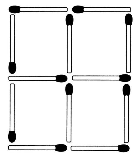 Streichholzrätsel Denksport-Aufgabe mit Lösung Matchstick Puzzle Nummer 01