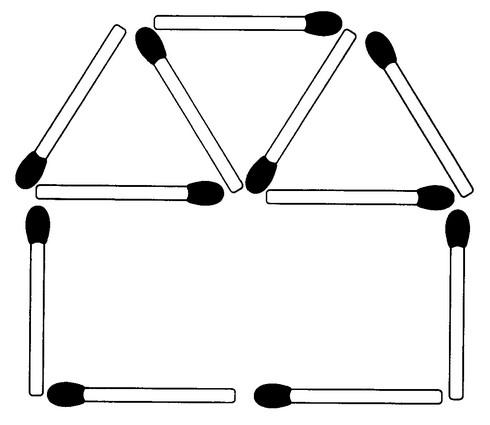 Streichholzrätsel Denksport-Aufgabe mit Lösung Matchstick Puzzle Nummer 05