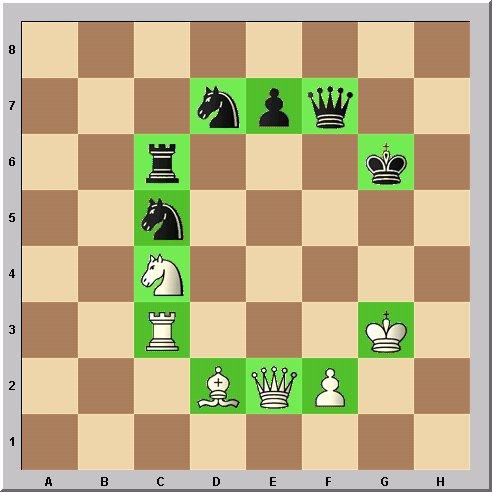 Walter Eigenmann hat die acht Linien des Schachbrettes transferiert in die ersten acht Buchstaben des Alphabets: Das Schach-Alphabet: Heute: Buchstabe C.