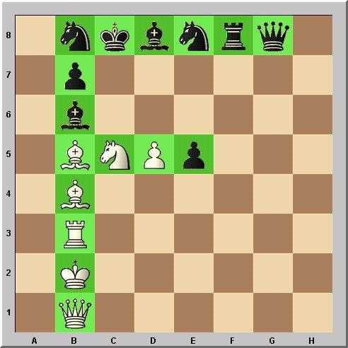 Walter Eigenmann hat die acht Linien des Schachbrettes transferiert in die ersten acht Buchstaben des Alphabets: Das Schach-Alphabet: Heute: Buchstabe F.