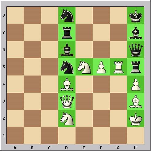 Walter Eigenmann hat die acht Linien des Schachbrettes transferiert in die ersten acht Buchstaben des Alphabets: Das Schach-Alphabet: Heute: Buchstabe H.