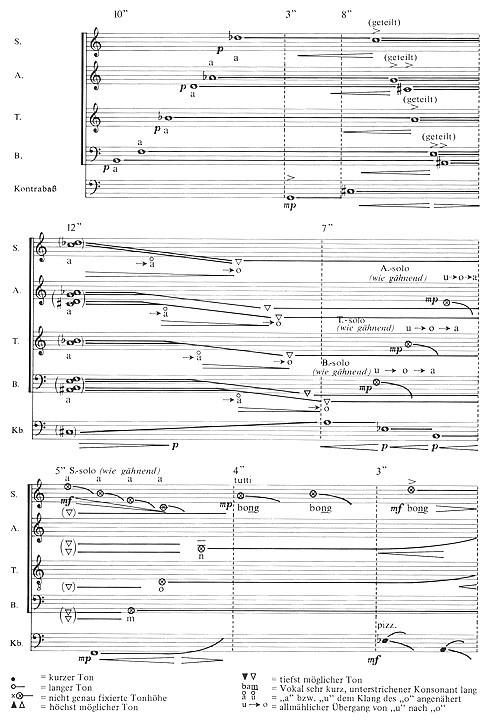 """Musik für vierstimmigen Chor und Kontrabass - Musikrätsel """"Wer bin ich?"""""""