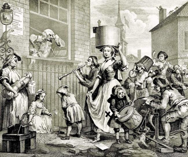 William Hogarth: Der rasende Musikus, 1741