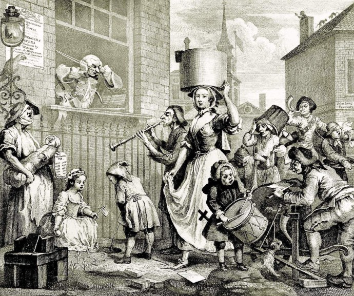 William Hogarth: Der rasende Musikus, 1741