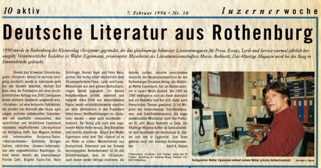 """""""Luzerner Woche"""" - (Rezension 1996)"""