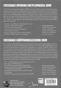 Chessbase_Opening Encyclopaedia 2009_Rueckseite