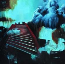 Christian Jaeschke - Am Abgrund   Acryl und Öl auf Leinwand   140 x 140 cm   2013