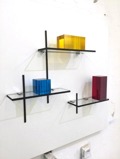 BONGCHULL - HOMMAGE AN MONDRIAN, EDITION NO. 1/5 Glas, laminiert, 74 x 74 x 10 cm,2016