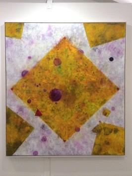 Zamp Wimmer - Stabiles und leicht dynamisches Mental, 2016 170 x 150cm, Öl auf Leinwand
