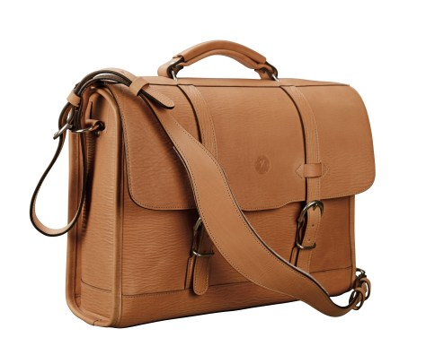 Hand-grained,-hand-colored,-natural-Headhunter-Flapover-Bag;-16-x-12-x-4' 2