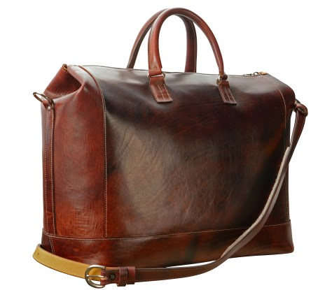 Hand-grained,-hand-colored,-mahogany-Club-Bag-with-hand-grained-natural-trim;-19-x-13-x-8'-back