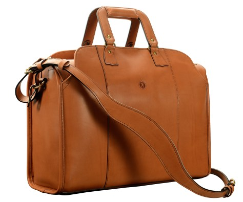 Hand-burnished,-chestnut-Litigation-Deal-Bag;-19-x-13-x-8'
