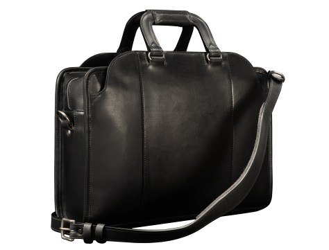 Hand-burnished,-handmade-black-Day-Bag;-17-x-12-x-4'-back