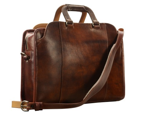 Hand-grained,-hand-colored-sienna-Day-Bag-with-hand-grained-natural-trim;-17-x-12-x-4'-back