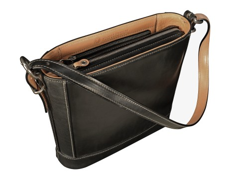 Hand-burnished-black-Shoulder-Bag-with-hand-grained-natural-trim-and-warm-gray-grosgrain-lining;-10-x-10-x-3'-topdown1