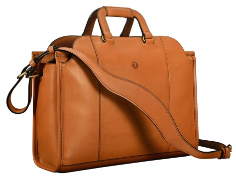 Hand-burnished-chestnut-Day-Tote;-17-x-12-x-6'