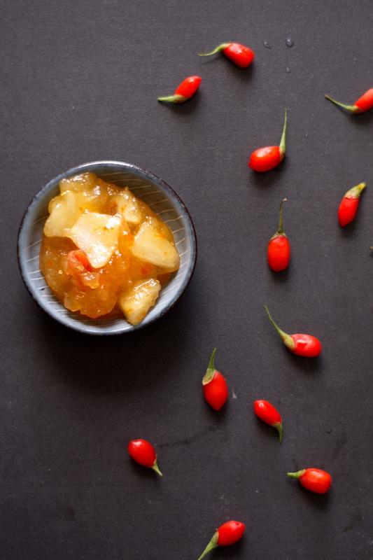 Apfel-Gojibeeren-Marmelade