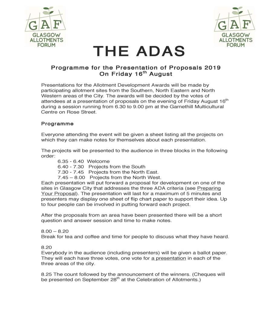 THE ADAS Programme
